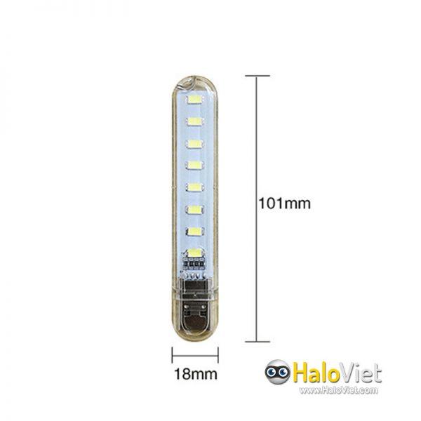 Đèn led 8 bóng siêu sáng cắm cổng USB - 2