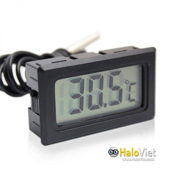 Đồng hồ đo nhiệt độ cảm biến chống nước màn hình LCD - 1