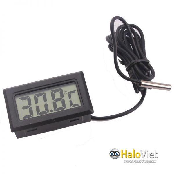 Đồng hồ đo nhiệt độ cảm biến chống nước màn hình LCD - 2