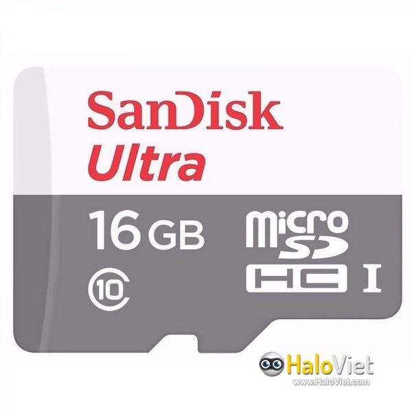 Thẻ nhớ MicroSDHC SanDisk Ultra 16GB Class 10 (Hàng Chính Hãng) - 1