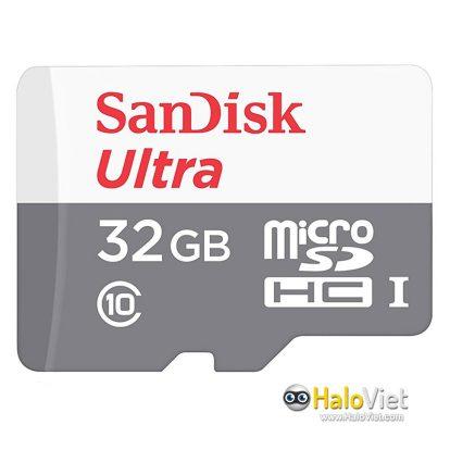 Thẻ nhớ MicroSDHC SanDisk Ultra 32GB Class 10 (Hàng Chính Hãng) - 1