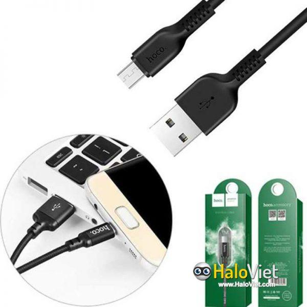 Cáp sạc nhanh dây dù Hoco X14 Micro USB - 4