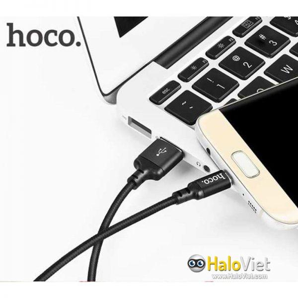 Cáp sạc nhanh dây dù Hoco X14 Micro USB - 7