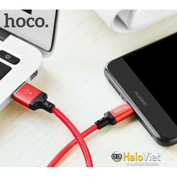 Cáp sạc nhanh dây dù Hoco X14 Micro USB - 9