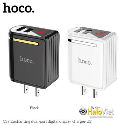 Sạc nhanh 2 cổng USB Hoco C39 - 12W - 1