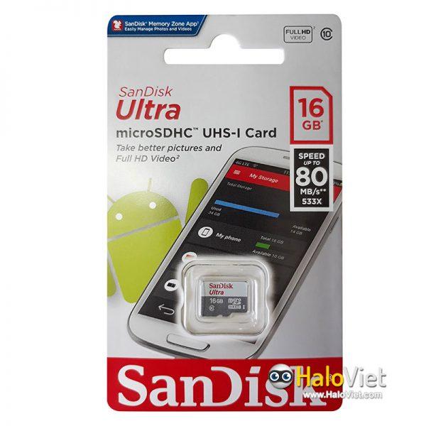 Thẻ nhớ MicroSDHC SanDisk Ultra 16GB Class 10 (Hàng Chính Hãng) - 3