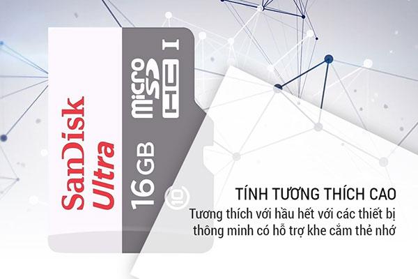 Thẻ nhớ MicroSDHC SanDisk Ultra 16GB Class 10 (Hàng Chính Hãng) - 6