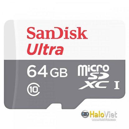 Thẻ nhớ MicroSDXC SanDisk Ultra 64GB Class 10 (Hàng Chính Hãng) - 1
