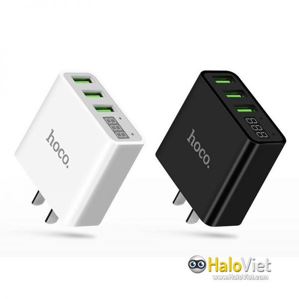 Sạc nhanh 3 cổng USB Hoco C15 - 1