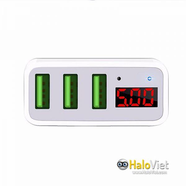 Sạc nhanh 3 cổng USB Hoco C15 - 4