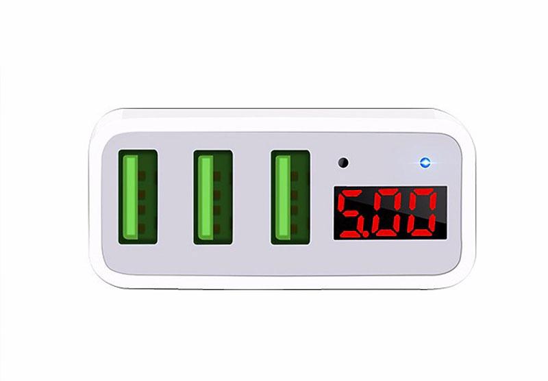 Sạc nhanh 3 cổng USB Hoco C15 - 9